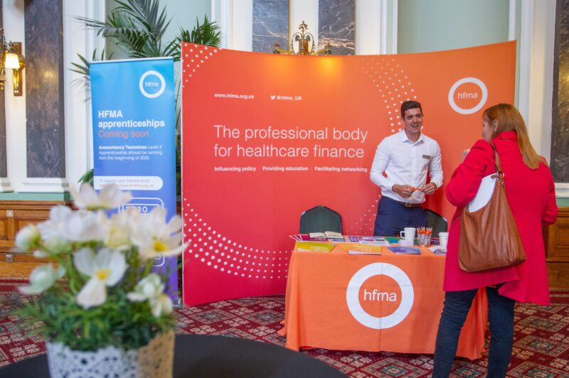 HFMA stand at HAF event