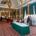 View of exhibition stands