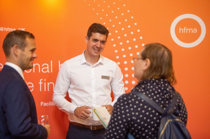 HFMA stand at the HAF event